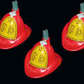 Red Fire Department Hat Party String Lights - UL0525