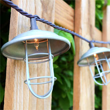 Vintage Metal Wire Patio String Lights