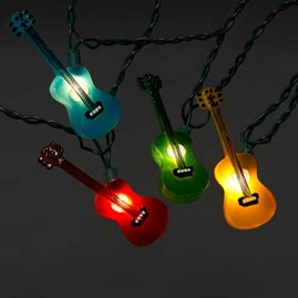 Multi-Color Guitars Party String Lights - Novelty Party Stringlight Strands & Sets - Oogalights ...