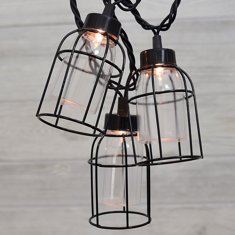 Vintage Style Edison Cage String Lights - 8-1/2'