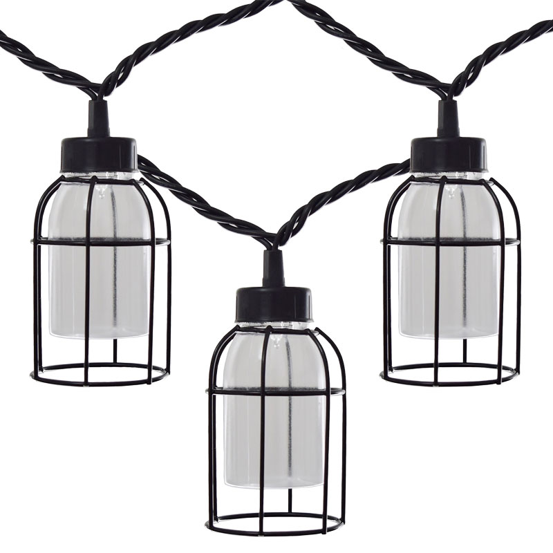 Metal Bird Cage String Lights : Vintage Style Cage Edison Lights