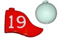 19th Hole Golf Ball & Flag Party String Lights - 836019