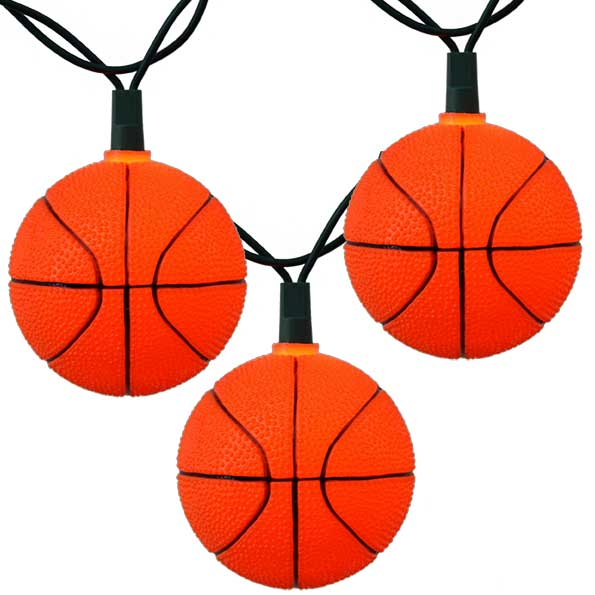 Bunch O' Basketballs Party String Lights