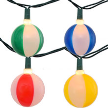 Beach Ball Party String Lights