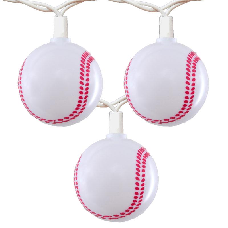 Baseball Party String Lights - Novelty Lights - 10 Lights
