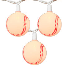 Baseball Party String Lights