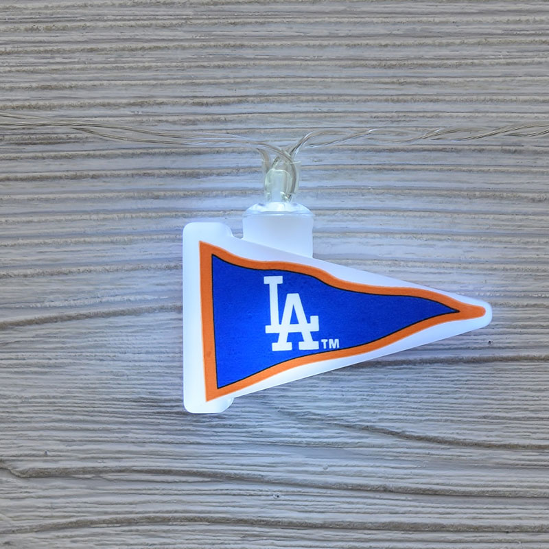 Mlb Los Angeles Dodgers Led Pennant Lights Battery Operated