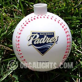 San Diego Padres MLB Baseballs Party String Lights - MLB Baseball Party Lights & String Lights