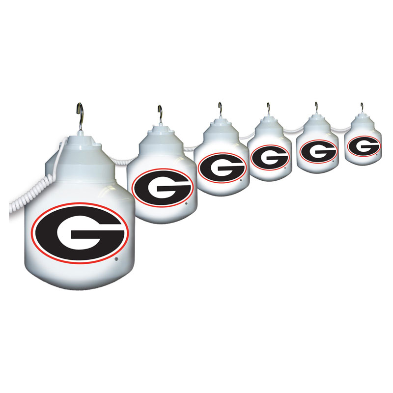 georgia bulldogs NCAA globe string lights