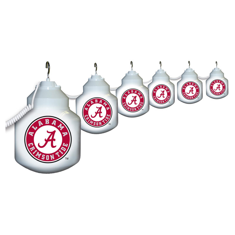 Collegiate Ten Globe String Light Set - University of Alabama