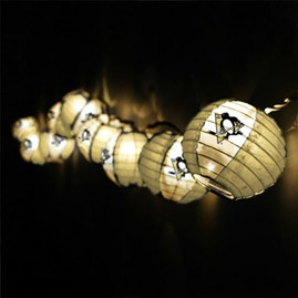 NHL Paper Lantern String Lights - Oogalights.com - More Than 1,000 Party & String Light Bulbs!