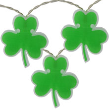 Battery Operated Shamrock Novelty String Lights