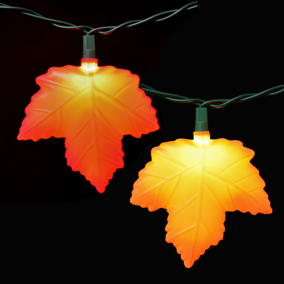 Turkey Party String Lights : Autumn Leaf Party String Lights - 10 Lights
