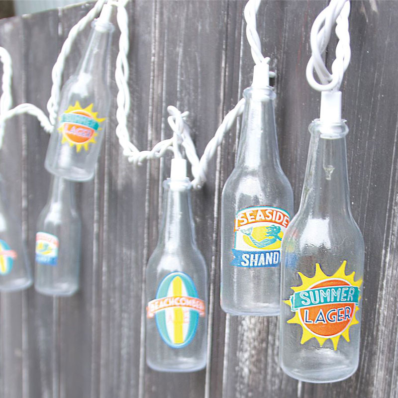 Beer Bottle Party String Lights - 10 Lights DE-70217