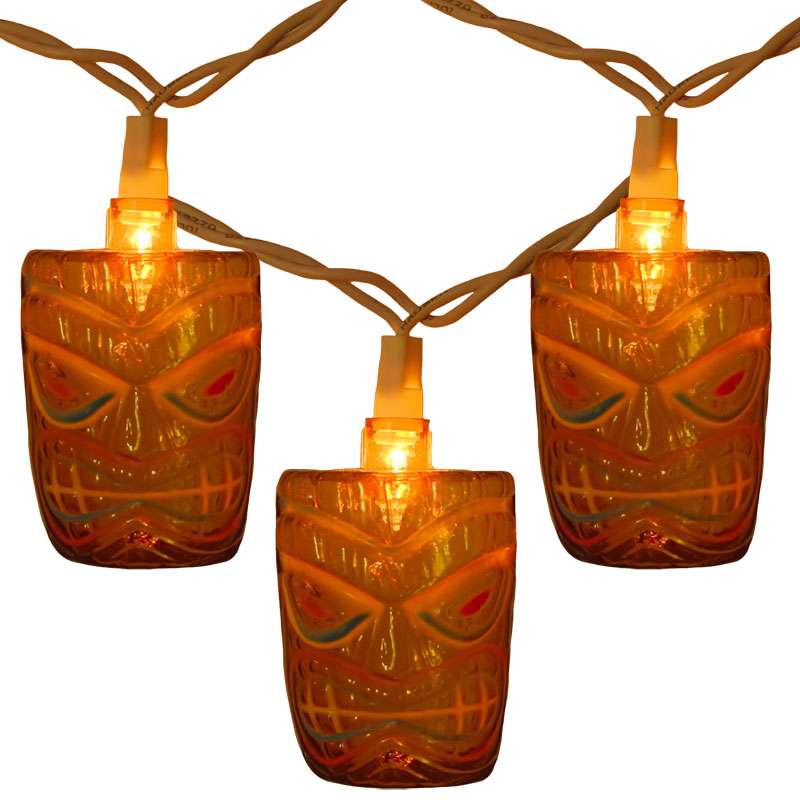 Tiki Head Party String Lights