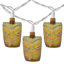 Tiki Head Tropical String Lights
