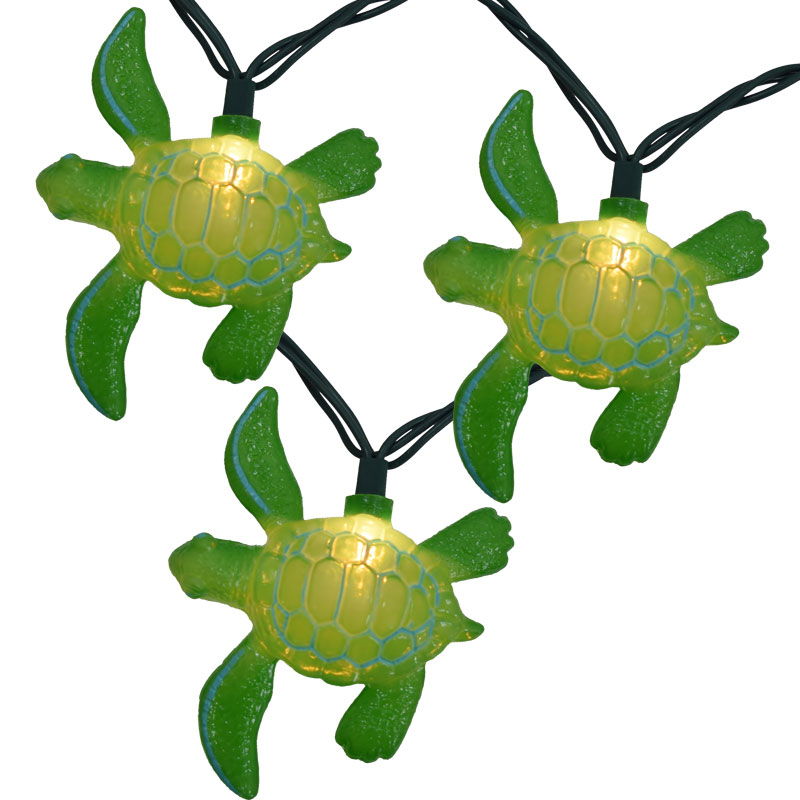 Sea Turtle Party String Lights - Green