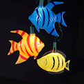 Tropical Colorful Fish String Lights - 10 Lights - UL4245
