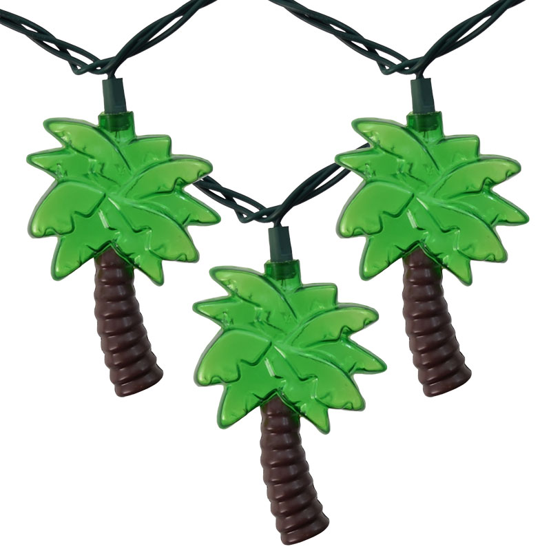 Palm Tree String Lights Outdoor : Outdoor Tropical Palm Tree String Lights