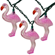 Pink Flamingo Tropical Novelty String Lights