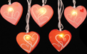 Paper Heart Shaped Party String Lights - Red & Pink - GC2129530