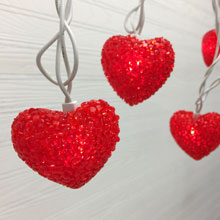 Loving Hearts Party String Lights