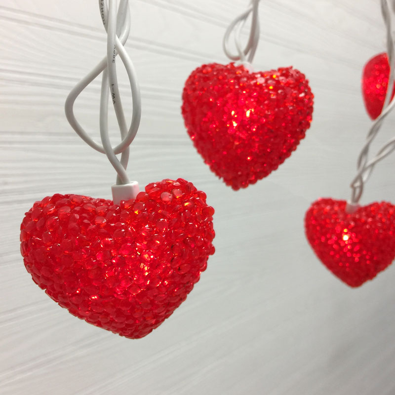 loving hearts party string lights - Valentine String Lights