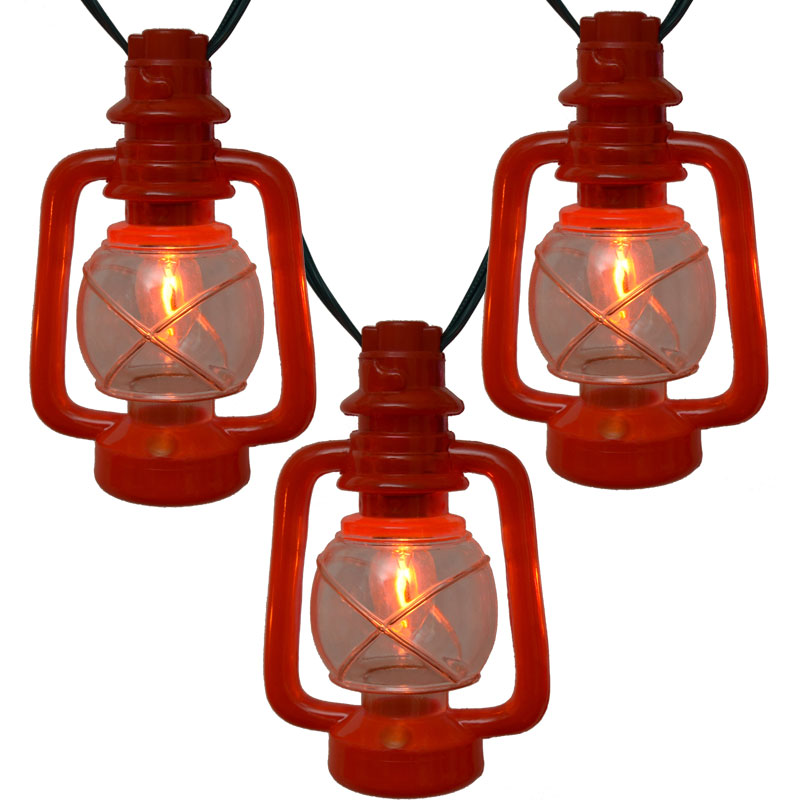 Italian Party String Lights : C7 Red Lantern String Lights