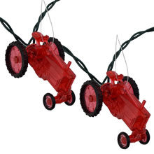 Red Tractor Novelty String Lights