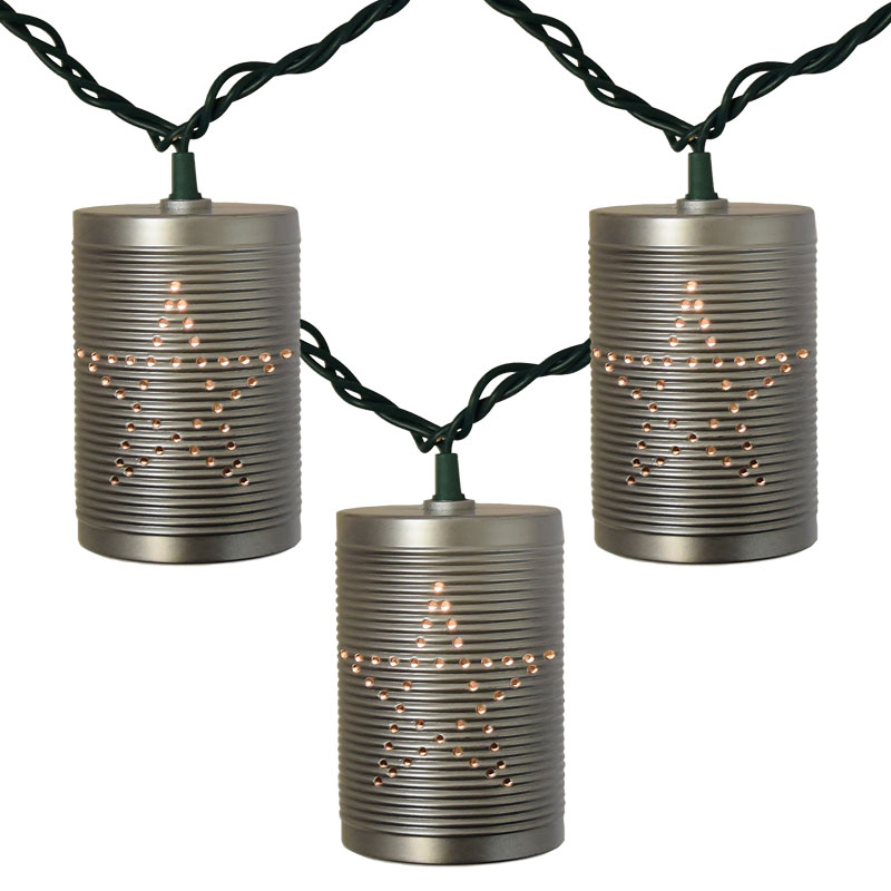 Tin Can Party String Lights  sc 1 st  OogaLights.com & Rustic Tin Can Party String Lights azcodes.com