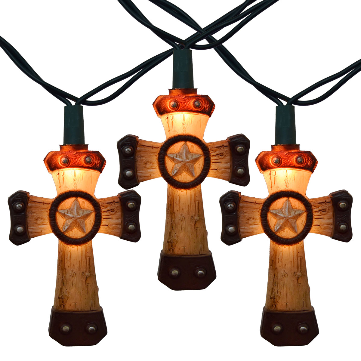Western Cross Party String Lights - 10 Cross Lights