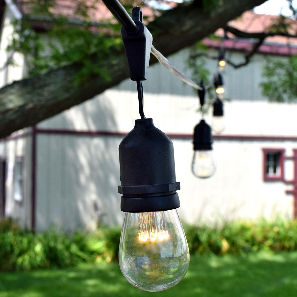 Commercial Outdoor Kitchen: LED Suspended Vintage String Lights