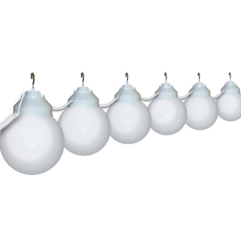 Globe String Lights White Cord : 6