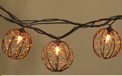 Brown Wire & Bead Sphere String Lights - 10 Lights - GC2201230