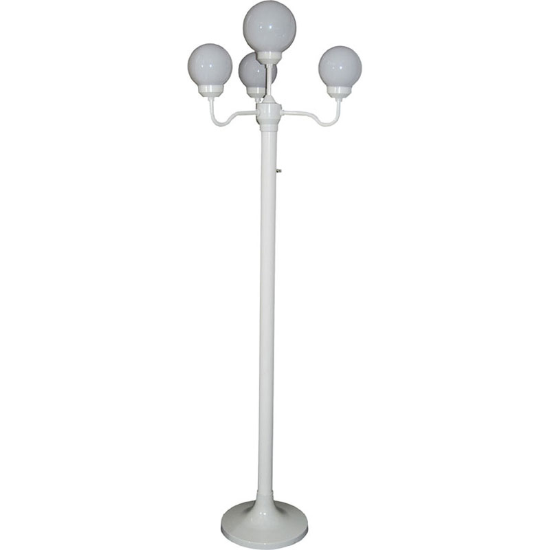 Four-Head White Luminaire Stand - 6
