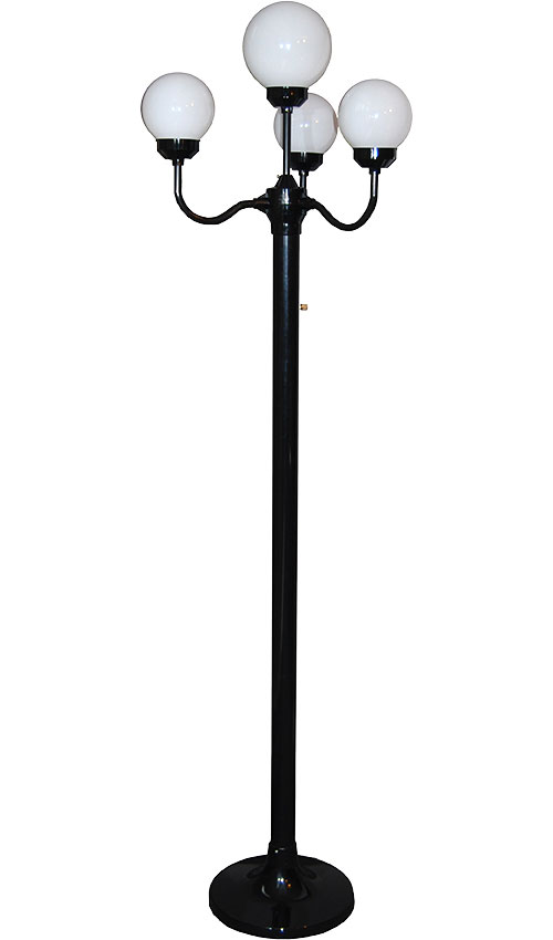 Four-Head Black Luminaire Stand - 6