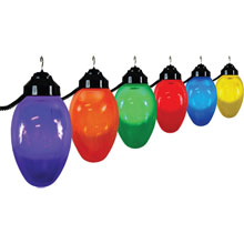 Multi-Color Holiday Globe String Lights - Black Wire