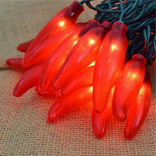 Red Chili Pepper Lights - 10 Lights CN-35RED