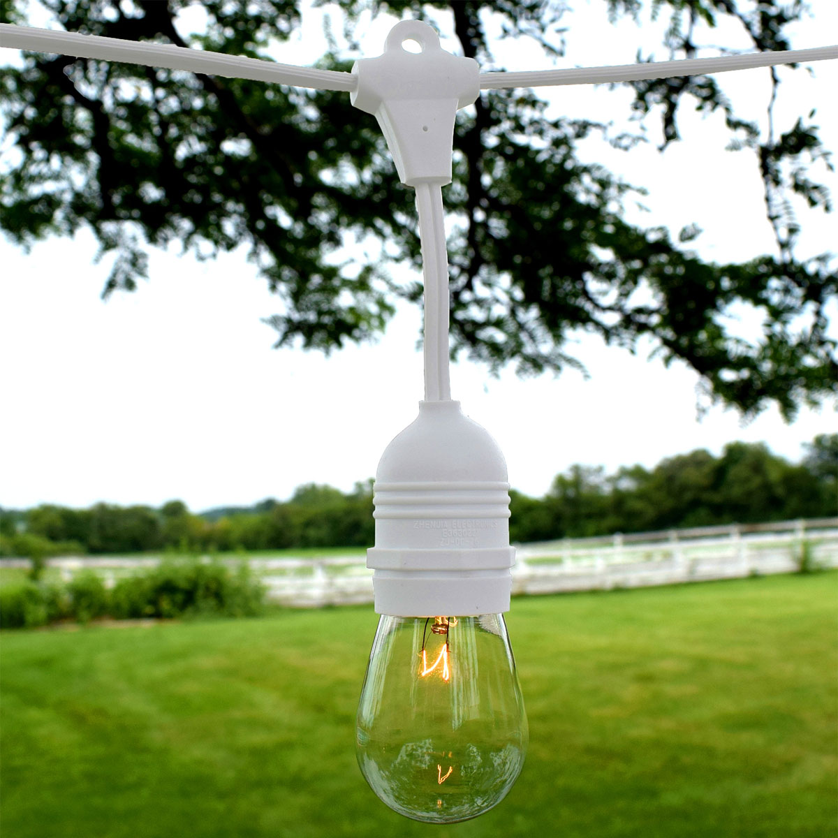 Outdoor Patio String Lights 54 White Suspended