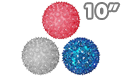 "Red White & Blue Sphere Party Lights - 10"" - SPHERE-10-RWB"