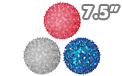 "Red White & Blue Sphere Party Lights - 7.5"" - SPHERE-75-RWB"