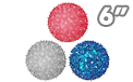 "Red White & Blue Sphere Party Lights - 6"" - SPHERE-6-RWB"