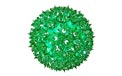 "7.5"" Hanging Starlight Sphere - 100 Lights - Green - 724704"