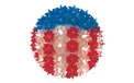 "7.5"" Regular Hanging Starlight Sphere - 100 Lights - Patriotic - Red, White & Blue"