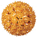 "7.5"" Hanging Starlight Sphere - 100 Lights - Gold - 724709"