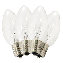 Replacement C9 Stringlight Bulbs - 4 Pack - Transparent Clear