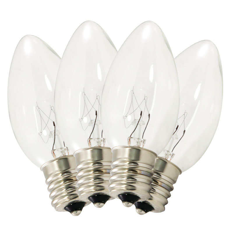 String Lights Replacement Bulbs : Replacement C9 Stringlight Bulbs - Transparent Clear Twinkling