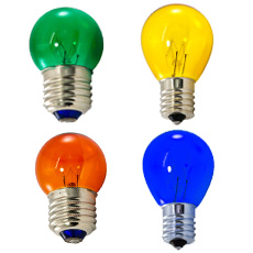 Colored Globe Style Bulbs