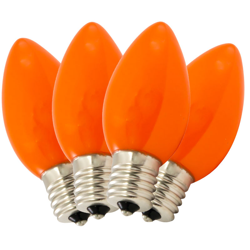 Replacement C9 Stringlight Bulbs - 4 Pack - Ceramic Orange