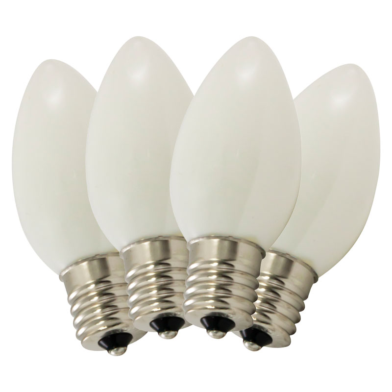 Replacement C9 Stringlight Bulbs - 4 Pack - Ceramic White